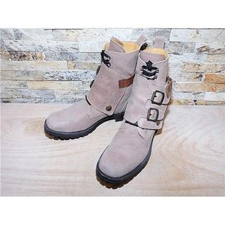 ドルチェアンドガッバーナ(DOLCE&GABBANA)の定価15万円 ドルチェ&ガッパーナ アンクルブーツ スエードベージュ 26cm(ブーツ)