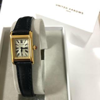 ユナイテッドアローズ(UNITED ARROWS)のユナイテッドアローズ時計 黒×金(腕時計)