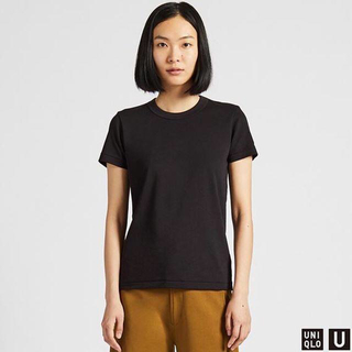 ユニクロ(UNIQLO)の新品 ユニクロ Uniqlo U クルーネックT 半袖 M 黒(Tシャツ(半袖/袖なし))