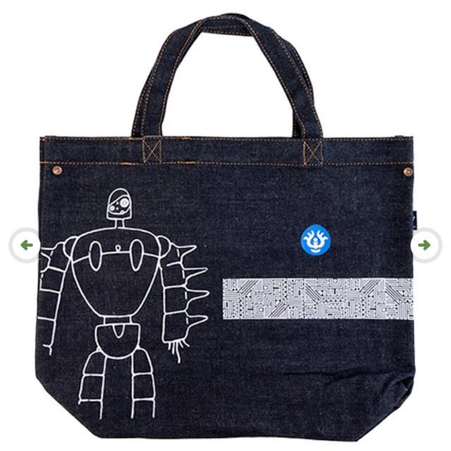 ジブリ(ジブリ)の天空の城ラピュタ EDWIN デニムトートバッグ ロボット兵 エンタメ/ホビーのおもちゃ/ぬいぐるみ(キャラクターグッズ)の商品写真