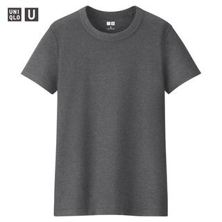 ユニクロ(UNIQLO)の新品 ユニクロ Uniqlo U クルーネックT 半袖 M グレー(Tシャツ(半袖/袖なし))