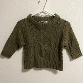 マーキーズ(MARKEY'S)のセーター カーキ 80(ニット/セーター)