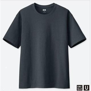 ユニクロ(UNIQLO)の新品 ユニクロ Uniqlo U リラックスフィットクルーネックT 半袖 グレー(Tシャツ(半袖/袖なし))