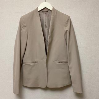 ジーユー(GU)のGU/ノーカラージャケット/ジーユー/スーツ/オフィス/シンプル/ベージュ(ノーカラージャケット)