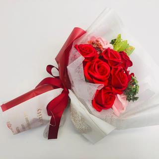 【送料無料 母の日 ソープフラワー シャボンフラワー プレゼント ブーケ 花 (ドライフラワー)