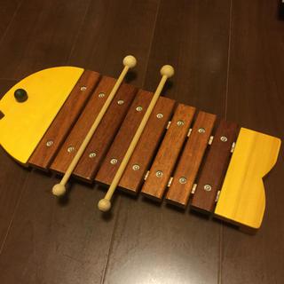BorneLund - ボーネルンド おさかなシロフォン 黄色 木琴 木のおもちゃ シロフォン