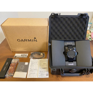 ガーミン(GARMIN)のGARMIN FENIX 5X SAPPHIRE 未使用レザーベルト付き(腕時計(デジタル))