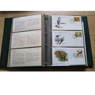 【切手】世界の野生生物ファーストデー・カバー公式コレクション(108種)(使用済み切手/官製はがき)