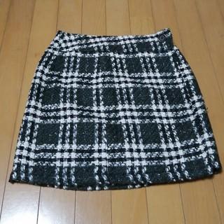 オリゾンティー(ORIZZONTI)のip チェック柄 巻きスカート(ミニスカート)