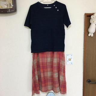 フォーティーファイブアールピーエム(45rpm)の45rpm  チェック柄スカート サイズ3(ロングスカート)