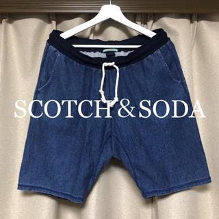 スコッチアンドソーダ(SCOTCH & SODA)のSCOTCH&SODA インディゴスウェットショートパンツ!  (ショートパンツ)