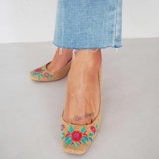 アリシアスタン(ALEXIA STAM)のALEXIASTAM#フラワー刺繍パンプス(ハイヒール/パンプス)