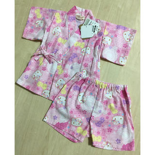 サンリオ(サンリオ)のキティちゃん 女の子 甚平 サイズ80(甚平/浴衣)
