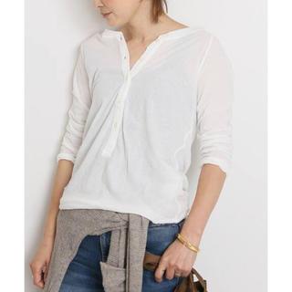 ドゥーズィエムクラス(DEUXIEME CLASSE)のDeuxieme Classe★ Henly Long Tシャツ ホワイト(Tシャツ/カットソー(七分/長袖))