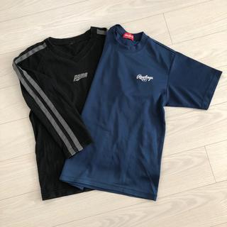 ローリングス(Rawlings)のローリングス半袖紺Tシャツ(Tシャツ/カットソー(半袖/袖なし))