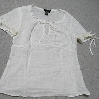 ビーシービージーマックスアズリア(BCBGMAXAZRIA)のBCBG MAXAZRIA 白シャツ(シャツ/ブラウス(長袖/七分))