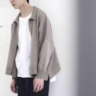 サンシー(SUNSEA)のURU TOKYO 17ss wide knit cardigan(カーディガン)