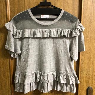 レッドヴァレンティノ(RED VALENTINO)のレッドヴァレンティノ  レース付きTシャツ S(Tシャツ(半袖/袖なし))
