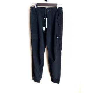 アディダス(adidas)の春夏 REPLAY 26 カーゴジョガーパンツ 裾ファスナー  黒 ブラック(ワークパンツ/カーゴパンツ)