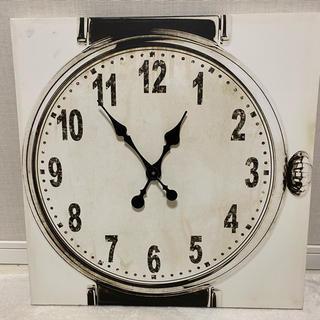 フランフラン(Francfranc)のフランフラン  掛け時計 キャンバス アートボード アンティーク(掛時計/柱時計)