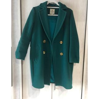 ランバンオンブルー(LANVIN en Bleu)のランバンオンブルー コート チェスターコート グリーン 36(チェスターコート)