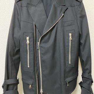 バルマン(BALMAIN)のバルマン(新品85%OFF!)大人気ブルゾン・BALMAIN・黒(S(48))(ライダースジャケット)