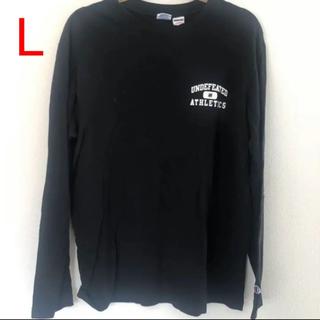 アンディフィーテッド(UNDEFEATED)の美品 UNDEFEATED ロンT ブラック Lサイズ(Tシャツ/カットソー(七分/長袖))