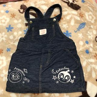 アンパンマン(アンパンマン)の未使用☆アンパンマン デニム風 ジャンパースカート 90 95(ワンピース)
