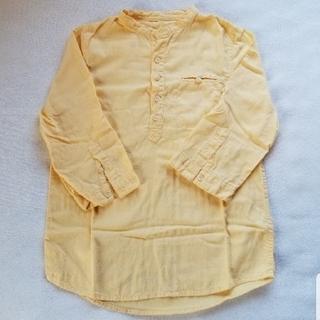 ザラ(ZARA)のmZARA BOYS 7分袖シャツ イエロー 128cm(ブラウス)
