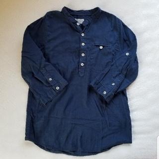 ザラ(ZARA)のmZARA BOYS 7分袖シャツ ネイビー 128cm(ブラウス)