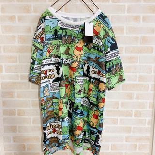 クマノプーサン(くまのプーさん)のえみ様おまとめ ディズニー プーさん 総柄 Tシャツ L 個性 派手 古着(Tシャツ/カットソー(半袖/袖なし))