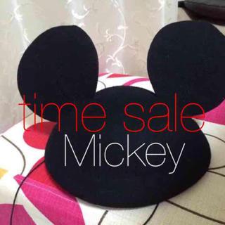ディズニー(Disney)のミッキー ベレー帽 帽子 ディズニー(ハンチング/ベレー帽)