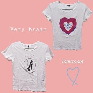 ベリーブレイン(Verybrain)のTシャツ2枚セット,コクーンスカート,サロペット(Tシャツ(半袖/袖なし))