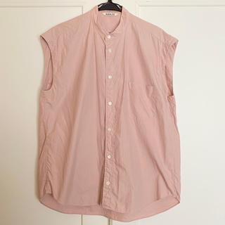 コモリ(COMOLI)のオーラリー AURALEE シャツ ノースリーブ  スリーブレス(Tシャツ(半袖/袖なし))