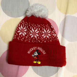 ディズニー(Disney)のミッキー ニット帽 CROSS CAP(ニット帽/ビーニー)