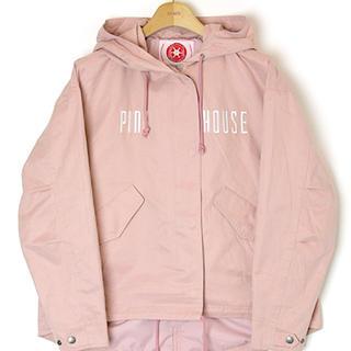 ピンクハウス(PINK HOUSE)の2020春完売★ピンクハウス新品未使用ロゴ刺繍フードブルゾン★ピンク(ブルゾン)