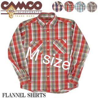 カムコ(camco)のカムコ ネルシャツ フランネル ショーツ チェック柄 赤 CAMCO(シャツ)