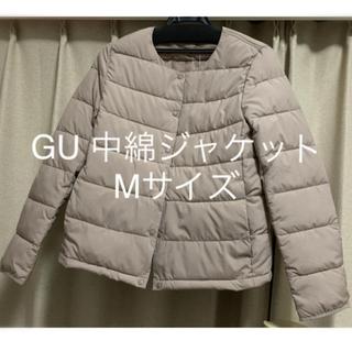 ジーユー(GU)のGU 中綿ノーカラージャケット M(ノーカラージャケット)