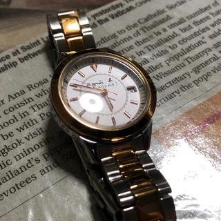 アニエスベー(agnes b.)の【shiori様用】アニエスベー ソーラー 腕時計 レディース(腕時計)