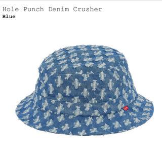 シュプリーム(Supreme)のSupreme Hole Punch Denim Crusher Blue(ハット)