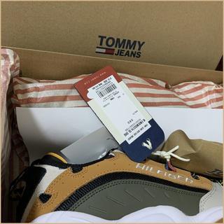 トミーヒルフィガー(TOMMY HILFIGER)のヘリテージスニーカー TOMMY HILFIGER 26.0cm ベージュ(スニーカー)