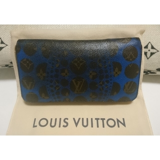 ルイヴィトン(LOUIS VUITTON)のルイヴィトン 草間彌生 長財布 パンプキンドット ブルー(長財布)