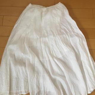 バンヤードストーム(BARNYARDSTORM)のバンヤードストーム白スカート(ロングスカート)