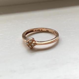 フォリフォリ(Folli Follie)のフォリフォリ♡ダイヤモンド×ピンクゴールド ピンキーリング3号(リング(指輪))
