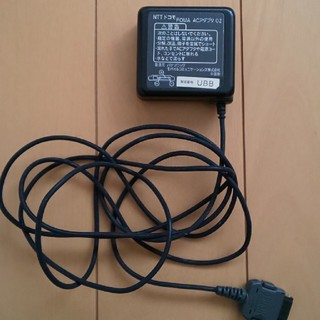 エヌティティドコモ(NTTdocomo)のFOMA ACアダプタ 充電器(その他)