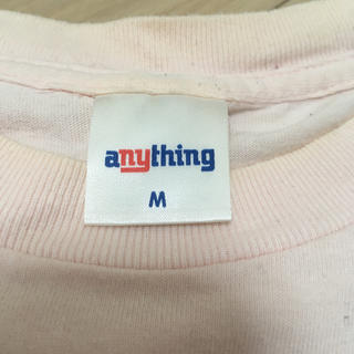 エニシング(aNYthing)のanything ピンク Tシャツ Mサイズ メンズ(Tシャツ/カットソー(半袖/袖なし))