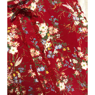 ロキエ(Lochie)の花柄タンクトップ○古着(タンクトップ)