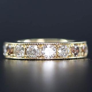 K18 18金 イエローゴールド フル エタニティ ダイヤモンド リング(リング(指輪))