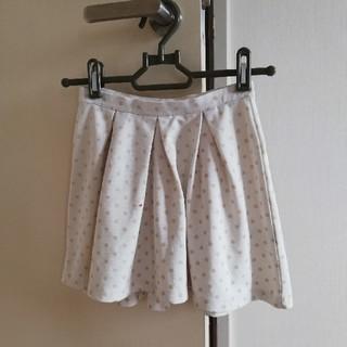 ランズエンド(LANDS'END)の(おまけ付き)LAND'S END 白水玉スカート サイズ110‐120(スカート)