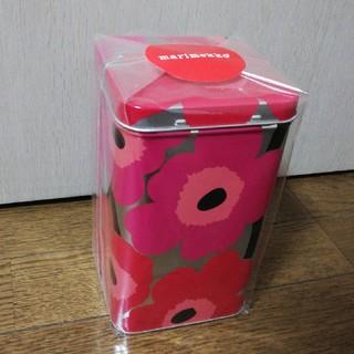 マリメッコ(marimekko)のmarimekko ブリキ缶 新品(小物入れ)